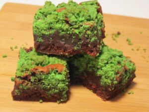 Matcha Sugar Cookie Brownies - one of 19 tea and chocolate recipes for #WeShouldCocoa.