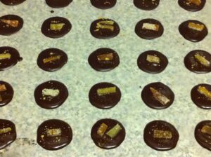 Dark Chocolate Mendiants - French Chocolate Buttons.