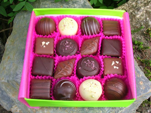 Box of Devnaa Chocolates.