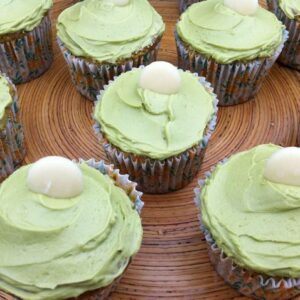 Matcha Cupcakes with White Chocolate