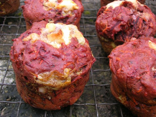 Carrot Beetroot Muffins.