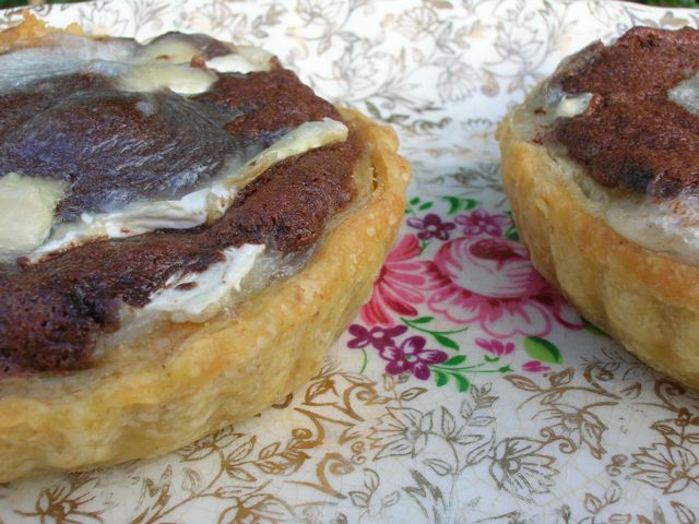 Chocolate Goat's Cheese Tarts