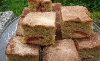 Victoria Plum Cake with White Chocolate