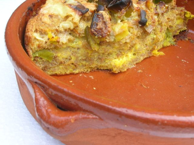 Cheese and Leek Pudding