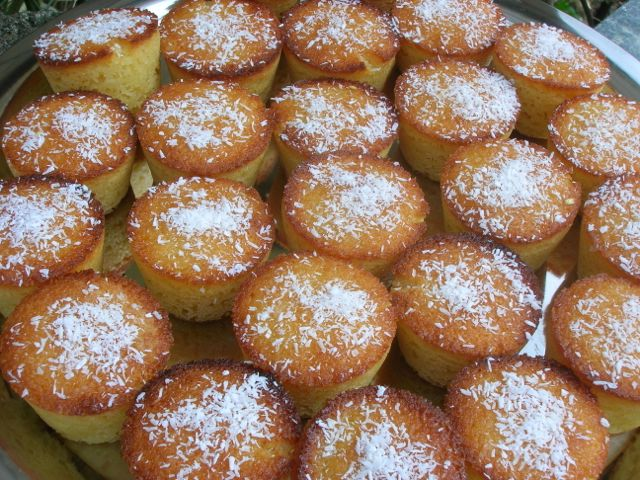 Lemon Almond Coconut Cakes
