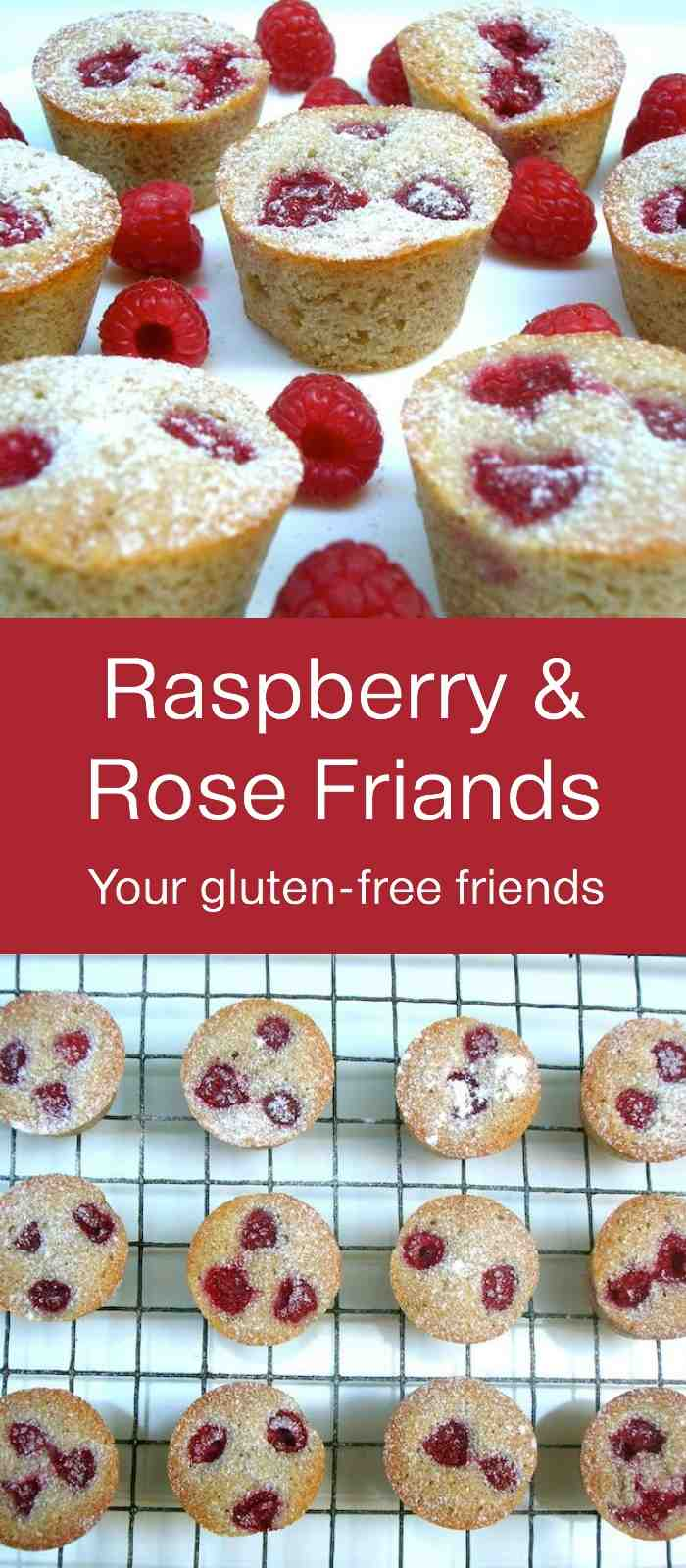 Raspberry Rose Friands - delicious little cakes that are gluten-free. Easy to make too.