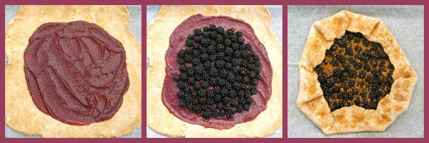 Blackberry Galette in the Making