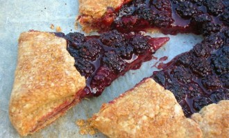 Double Blackberry Chocolate Galette