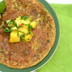 Courgette Chickpea Pancake