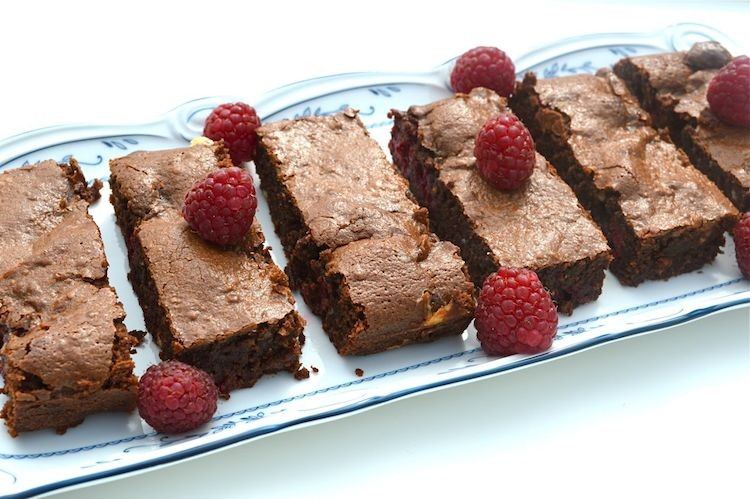 Raspberry Fudge Brownies