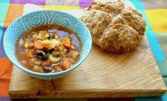 Smoky Mexican Bean Soup with Spelt Soda Bread