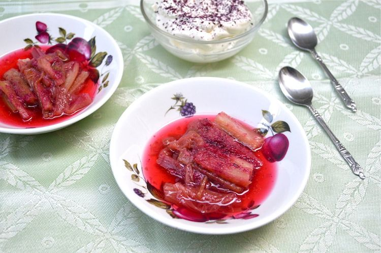 Rhubarb and Rose Compote