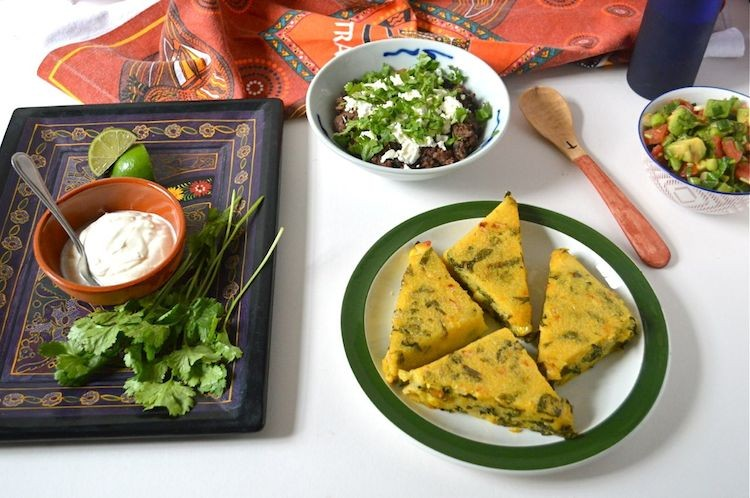 Corn Spinach Polenta Mexican Feast