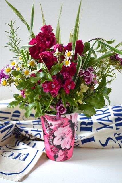 Joules Cup and Flowers