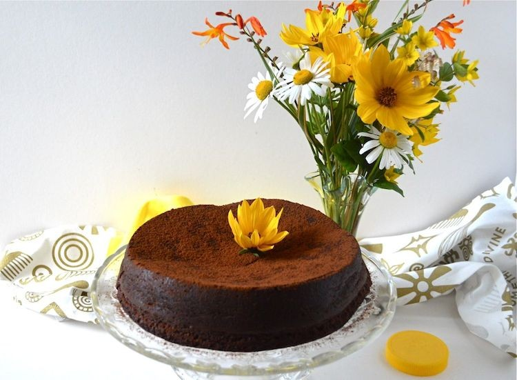 Coffee Cardamom Chocolate Mousse Cake