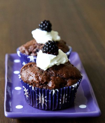 Double Chocolate Blackberry Muffins
