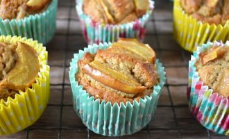 Gingered Pear Almond Honey Cakes