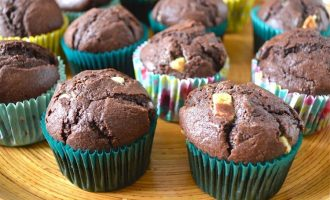 Triple Chocolate Muffins (or buns).