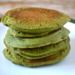 Stack of Green Kefir Kale Pancakes
