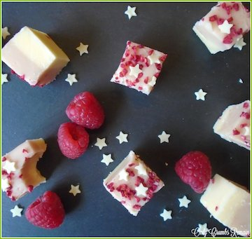 Raspberry & White Chocolate Fudge