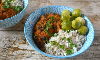 Black Bean Tomato Carrot Curry