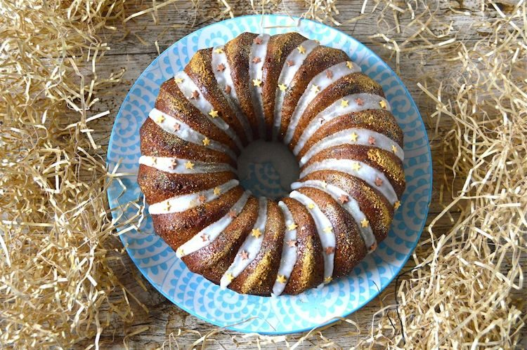 Fig Lemon Marzipan Bundt Cake