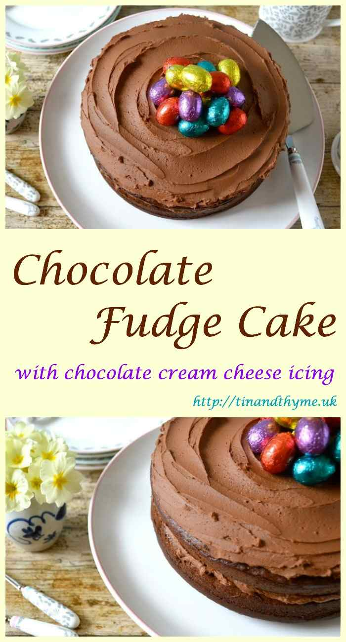 Chocolate Fudge Cake with Chocolate Cream Cheese Icing. Ideal for any celebration.