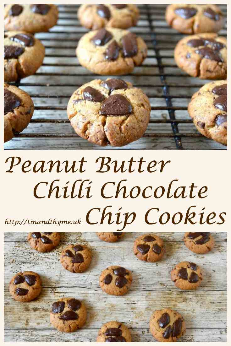 Peanut Butter Chocolate Chip Cookies - as delicious as they are easy to make. #TinandThyme #ChocolateChipCookies #cookies #biscuits #PeanutButterRecipe