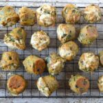 Carrot, Cabbage & Cheddar Mini Muffins with Garlic Scapes