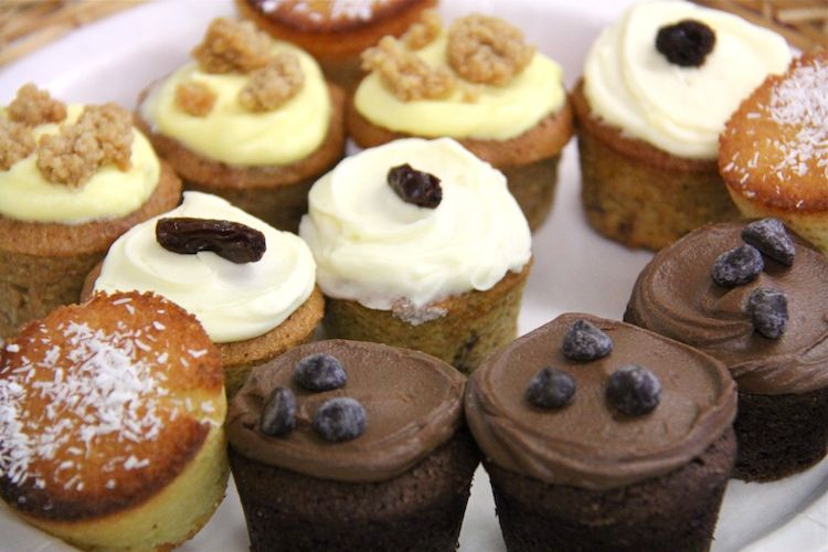 Rum and Raisin Cupcakes in a Selection