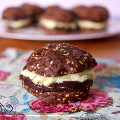 Chocolate Sesame Sandwich Cookies