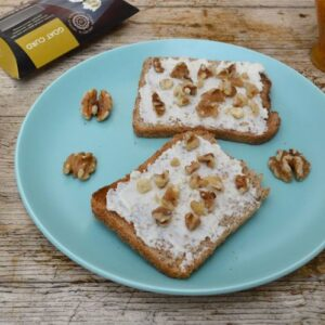 Curd Cheese, Honey & Walnuts on Toast