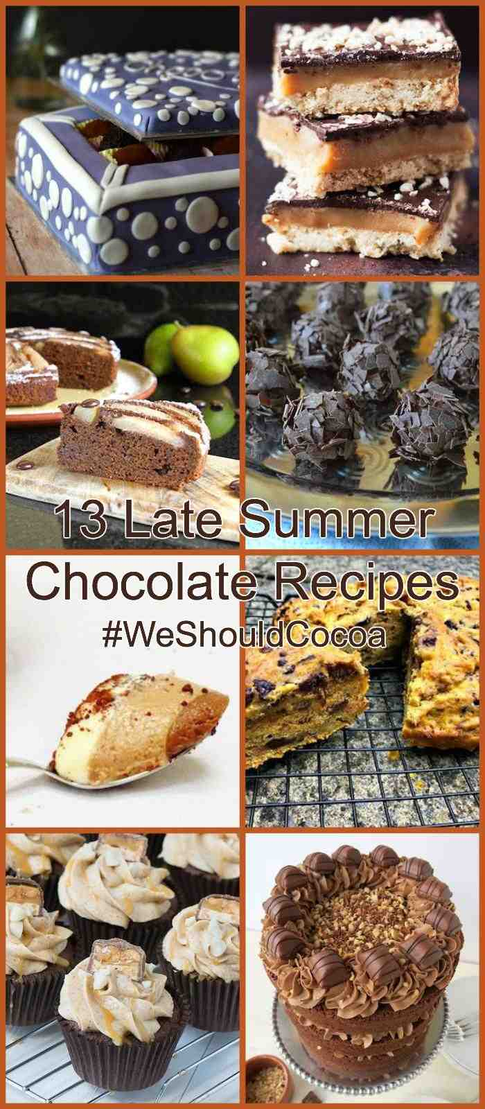 13 Late Summer Chocolate Recipes for #WeShouldCocoa