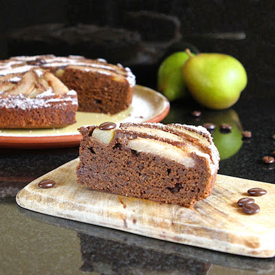 Mocha Pear Upside Down Cake