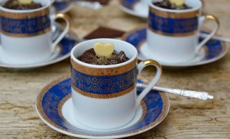 Spiced prune chocolate pots