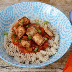 Miso Marinated Tofu with Pasta's Last Stand