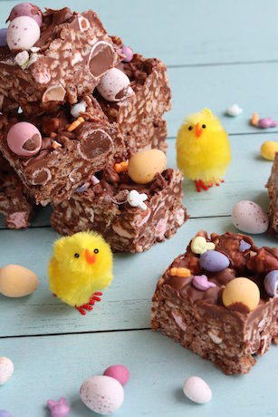 Mini Egg Rice Crispy Squares