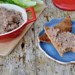 Mushroom Pâté with Walnuts and Butter Beans on Toast - Delicious, Nutritious and Vegan