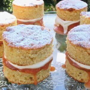 Mini Orange Sponge Cakes with Blood Orange Curd
