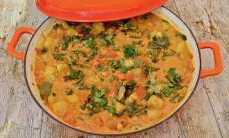Vegan Oca Peanut Stew with Kale