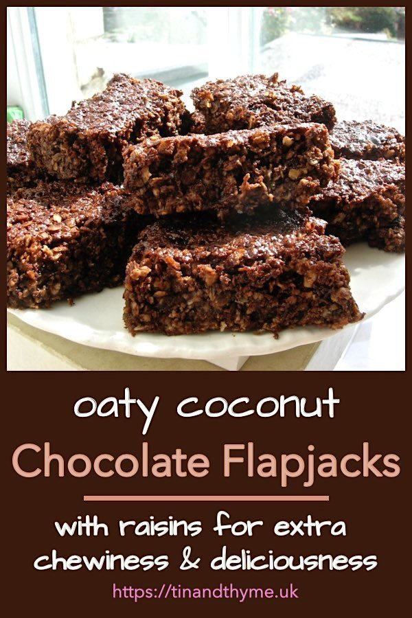 Plate of Chocolate Coconut Flapjacks