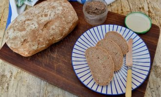 Rye Sourdough Bread with Seeds & Vegan Mushroom Pate