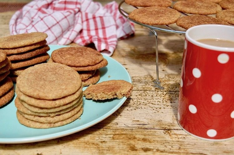 Plate of Wholemeal Spelt Snickerdoodles