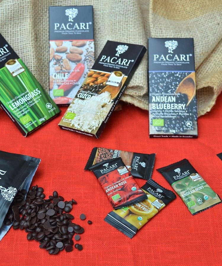 Pacari Premium Organic Chocolate Products for a review and giveaway.