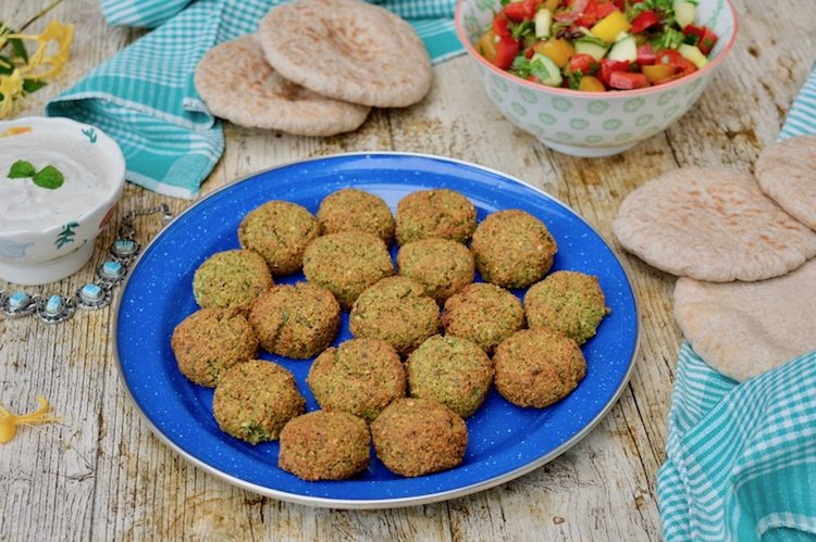 Homemade falafel with fava beans.