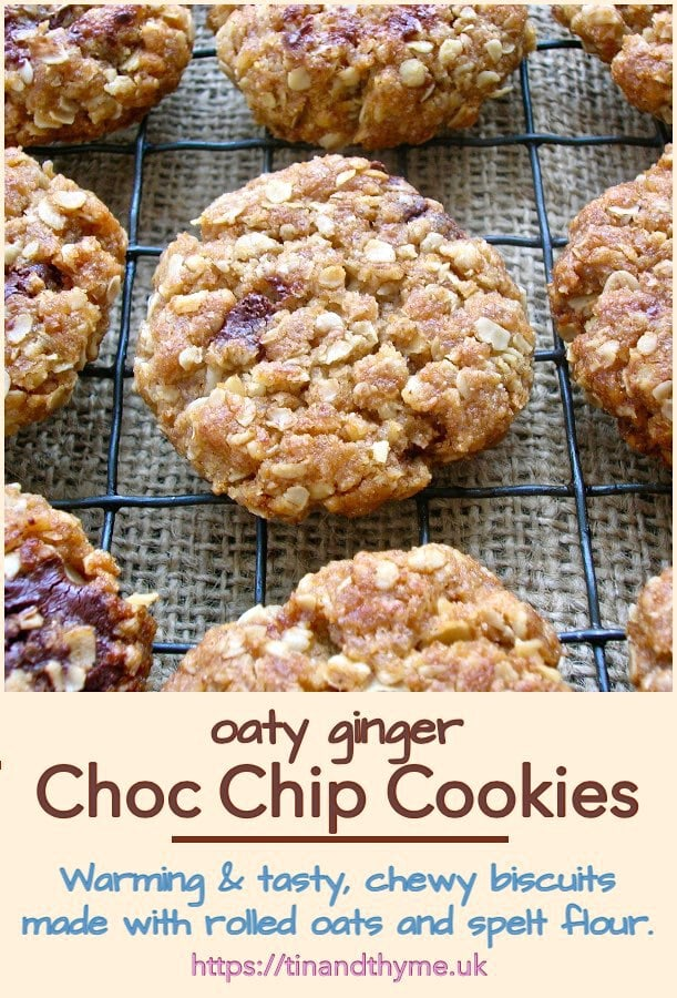 Oaty Ginger Chocolate Chip Cookies
