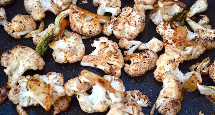 Roasted Cauliflower Florets with Smoked Paprika & Cocoa