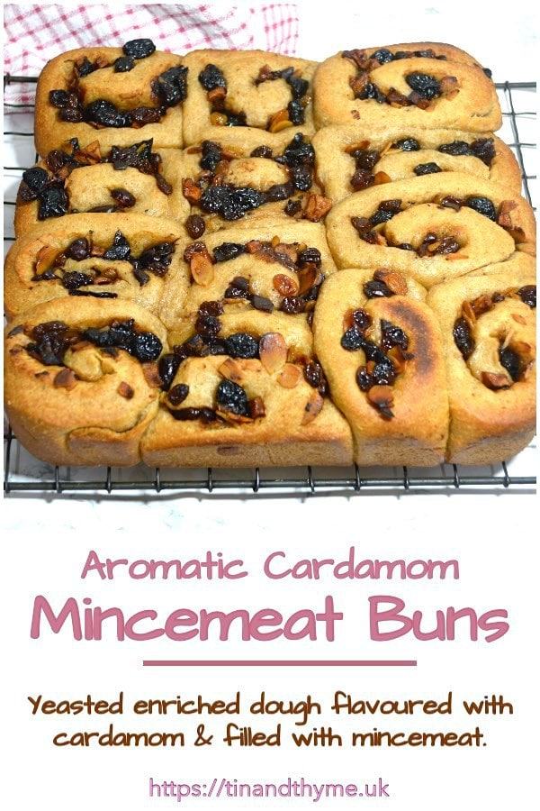 Yeasted Cardamom Mincemeat Buns