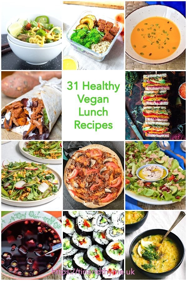 31 Healthy Vegan Lunch Recipes.