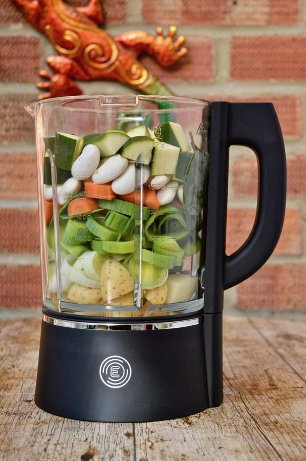 Prepared Veg in the Froothie Evolve Power Blender.